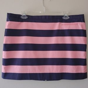 GAP Designed & Crafted Mini Skirt Navy Pink Stripe